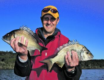 Solid black bream are the species to target in our southern estuaries during winter.