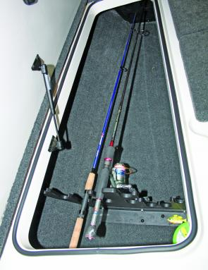 Rod storage is top-class, as is all the other storage in the boat.