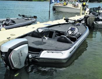 The power steering and iTrim makes driving a bass boat like this a breeze. The author seems to have wasted half a lifetime learning how to steer and trim boats like these to perfection. The system does it all for you now.