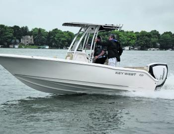 The Key West was sort of out of place on Lake Okauchee – a recreational lake west of Milwaukee where Ole Evinrude first spawned the idea for an outboard motor – but the historical significance of the marina wasn't lost on the BRP staff.