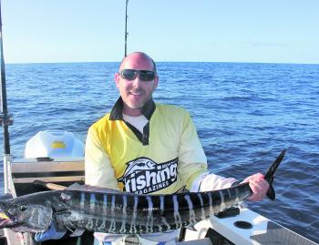 Phil caught this wahoo at Hutchinson Shoal trolling a hardbodied lure.