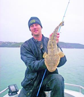 Clint Thorpe spun up this flathead in Sydney Harbour on bream gear fishing the drop-offs in Middle Harbour.