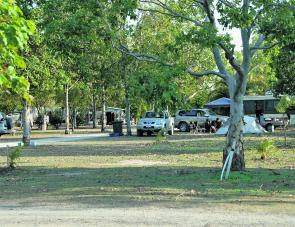 Baffle Creek Caravan and Camping area offers plenty of shade for visitors to make the best of their holiday.
