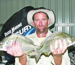 A sample of the style of big, prawn-chasing bream taken from the river at Maclean.