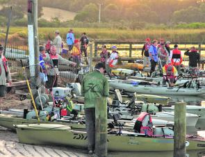 Forty-three anglers from multiple states hit the water on the Glenelg River to compete in the 2012 Daiwa-Hobie BREAM Kayak event.