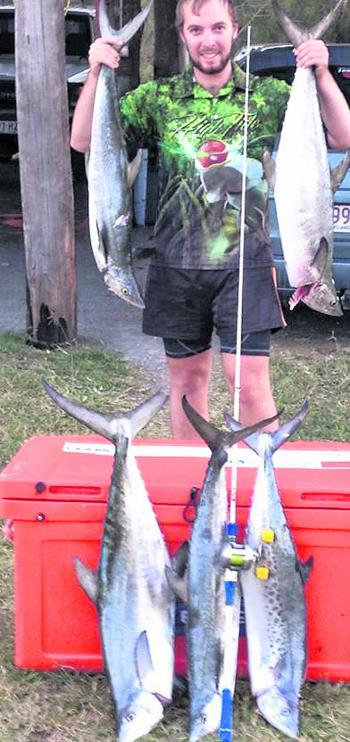 Derrick has taken some great fish on the Blue Gomoku Overhead rod.