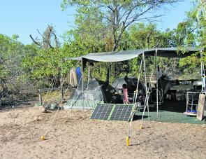 The camp was a little rough but we were comfortable thanks to Korr Lighting products and the Glind Cape Yorker.