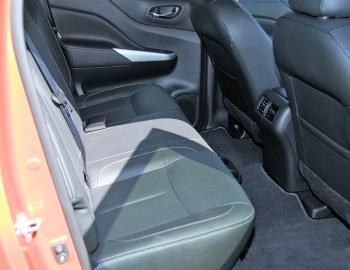 Well-shaped rear seats ensure second row passengers will be as comfortable as those up front.