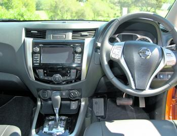 A well set out and tidy dash layout gives the new Navara a very upmarket ambience.
