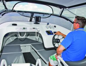 Visibility from the helm seat was very good, with the bimini's zip open clears allowing plenty of air flow.