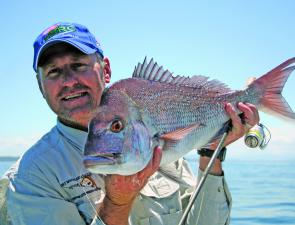 Chris Blanch with a lovely Summer snapper caught off Port Macquarie in around 30m.