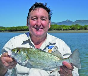 Macca caught this grunter while fishing the deeper holes in Targinie Creek.