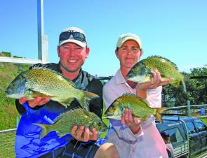 Mark Healey and Karen Scully from Team Forster Beach Caravan Park claimed the overall winner with both consistent and quality fish.
