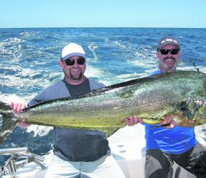This big mahi mahi was caught out wide off the Cape. It tipped the scales at 24.4kg.