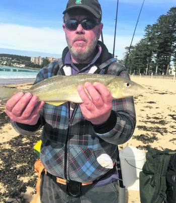 Paul Lubarosky with a 44cm stonker winter whiting. He said it is by far his largest!