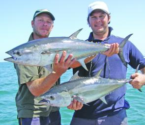 If you are prepared to brave the blistering temperatures and scorching sun you should be rewarded with good-sized tuna.