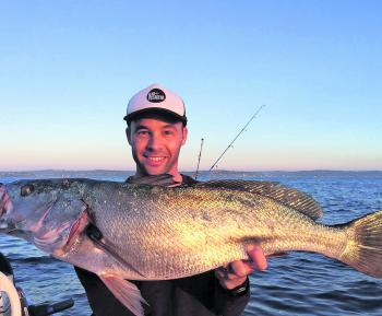 Jake Levy with a beautiful reef mulloway catch.