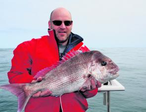 This 5.8kg snapper was taken by Steve Bathurst in 65m of water off Cape Otway.