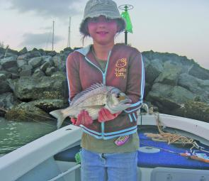 Rebecca Cree caught this bream at Rosslyn Bay.