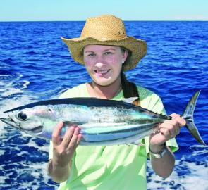 There were a heap of striped tuna out wide along the shelf line throughout December.