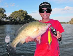 There are some big golden perch hitting lures along sections of the Murray River, too.