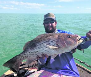 Gavin Gaw with a fine local golden snapper