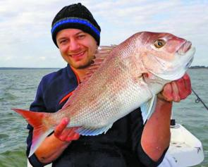 Nic Stambanis caught this beauty while fishing off Mornington.