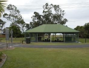 Residents can enjoy a barbecue at the large shelter shed within the Park.