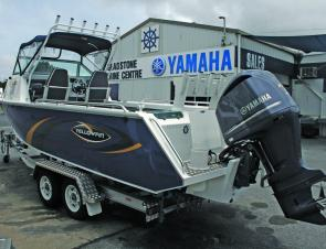 No matter which angle you view it from, it's hard not to be impressed by the Yellowfin 7600C and 225 hp Yamaha combo.