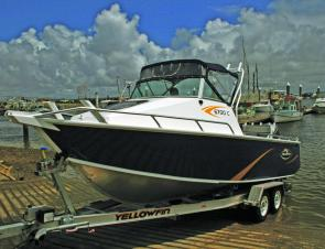 Despite its substantial bulk, launching and retrieving the Yellowfin 6700C proved simple.
