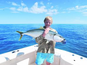 Large schools of 6-8kg yellowtail kingfish have been on the reefs and love hitting poppers and stick baits.