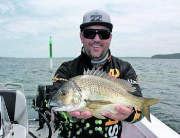 Brad Knight has been scoring plenty of nice bream lately on his Austackle hardbody lures.