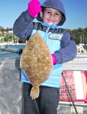 Spring flounder are usually big and respond to lures or bait.