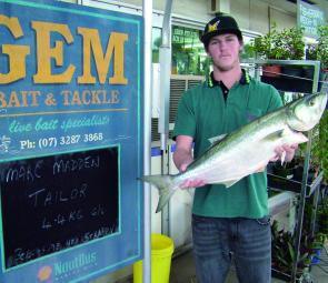 Marc Madden shows the rest of the Gem Fishing Club how to do it with this 4.4kg Greenback.