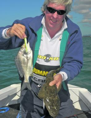 Expect a lot of bream by-catch while flathead fishing this month.