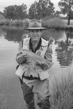 Rainbow trout like this one the author is holding are par for the course at Dunmore Trout fishery.