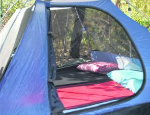 Plenty of mesh on the chosen tent is a great asset for comfort at night.