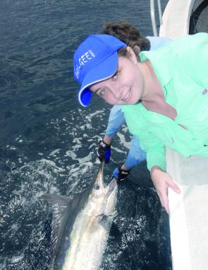 Even though marlin have dominated the catches, Julia Crilly managed to catch this lovely mahi mahi when out wide.