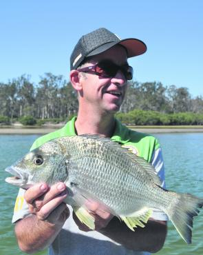 Bream like this are a certainty over the flats as they search for food.