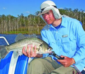 Catching big bass is much easier if you use a blobby anchor to hold the boat on the spot.