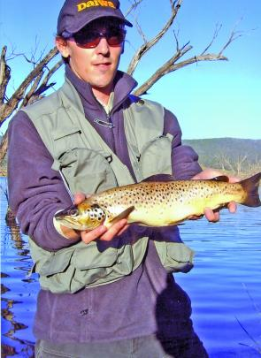 Trout are in their element during cold weather and can be taken on bardi grubs, scrub worms and Power Bait before and after their winter spawning runs.