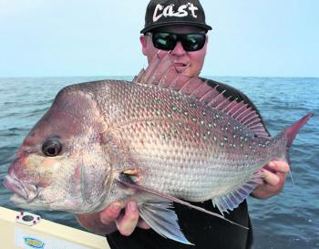 Anthony Ball with a Long Reef snapper.
