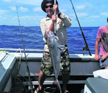 A solid amberjack that ate a live bait out wide.