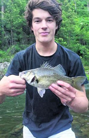 Lachy Omara with a nice Thomson caught bass. They are getting bigger by the look of it.