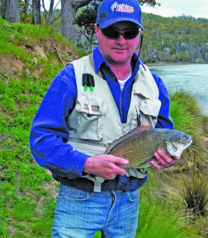 David Mercer, with a good Rubicon River bream that measured 39cm to the fork.