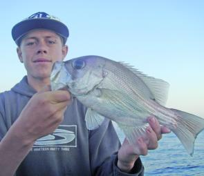 Ricky Andrews got this tasty little pearl perch on a plastic.