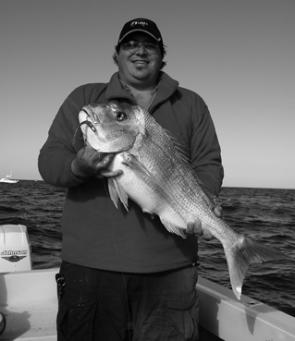 Dan Stead put the rod to good use on this big Moreton Bay snapper.