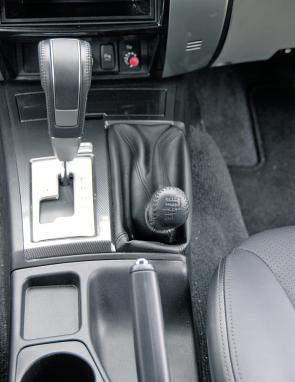 That stubby second lever denotes the Challenger as a 4x4 of some purpose.