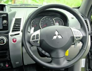 All major functions are accessible via the Challenger's steering wheel.