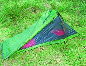 The Outer Limits Microsmart 270 sleeping bag fits nicely within the Starlight Two tent.